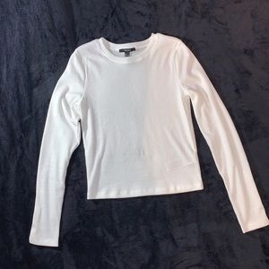 NWOT Forever 21 White Ribbed Knit Crop Top